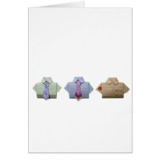 Chemises d'origami carte