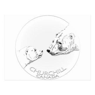 Chemises et cadeaux d'art d'ours blanc de carte postale
