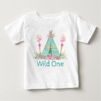 Chemises sauvages d'un anniversaire de filles t-shirt pour bébé