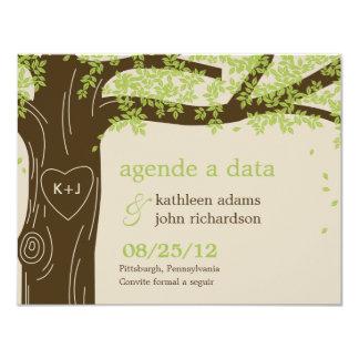 Chêne sauver les cartes de date - verte