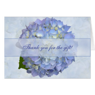 Chèque-cadeau bleu de Merci de blanc de fleur Carte De Correspondance