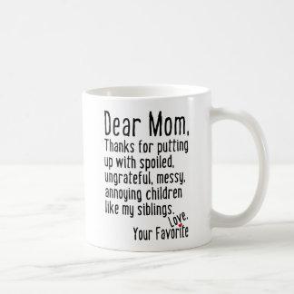 Chère maman [version d'enfants de mêmes parents] mug