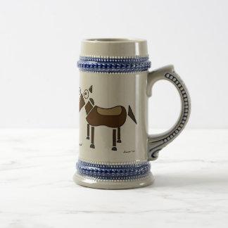 Cheval abstrait Stein Chope À Bière