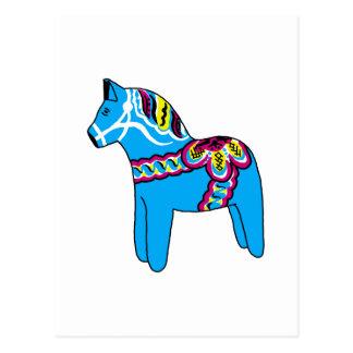 Cheval bleu de Dala Carte Postale