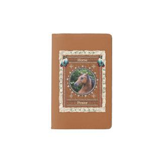 Cheval - couverture de velours de coton de carnet