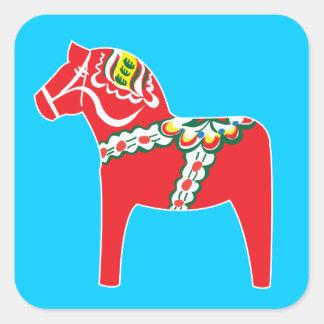 Cheval de Dalahäst   Dala Sticker Carré