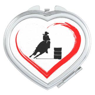 Cheval d'emballage de baril de silhouette et coeur