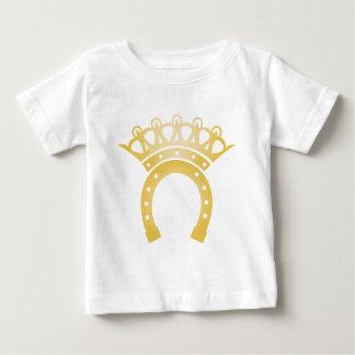 cheval en fer à cheval de couronne de plouc de t-shirt pour bébé