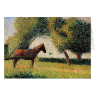 Cheval et chariot par Georges Seurat Carte