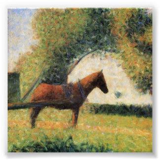 Cheval et chariot par Georges Seurat Photo Sur Toile