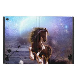 Cheval merveilleux avec la lune pendant la nuit coque powis iPad air 2