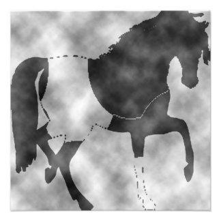 cheval noir impression photo