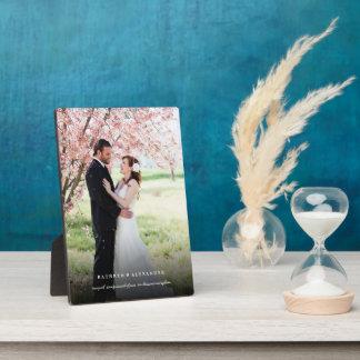 Chevalet noir simple classique de photo de mariage plaque photo
