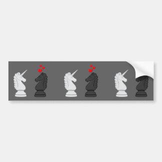 Chevalier d'échecs de licorne autocollant de voiture