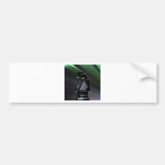 Chevalier noir abstrait autocollant de voiture