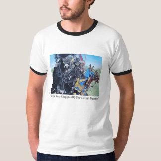 chevaliers médiévaux joutant sur l'art historique t-shirt