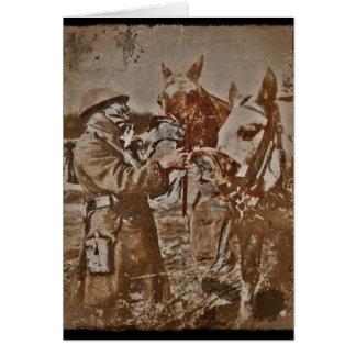Chevaux de alimentation de soldat carte