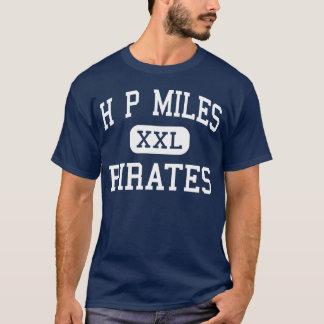 Chevaux Milles de collège Waco le Texas de pirates T-shirt