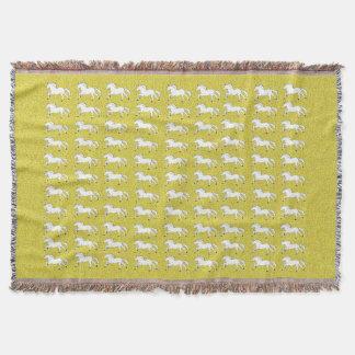 Chevaux tirés par la main d'or, simples et beaux couvertures