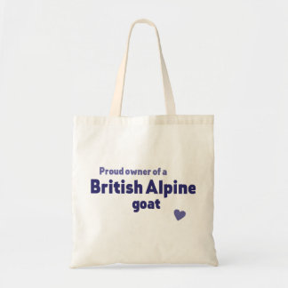 Chèvre alpine britannique tote bag