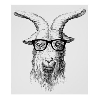 Posters hipster sur Zazzle