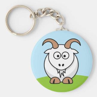 Chèvre de Saanen Porte-clé Rond