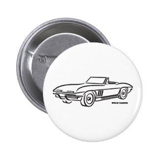Chevrolet Corvette 1966 Badge Rond 5 Cm
