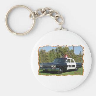 Chevrolet noir et blanc. porte-clé rond