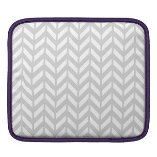 Chevron argenté 4 poches iPad
