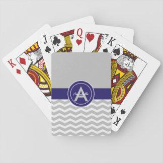 Chevron bleu gris jeu de cartes