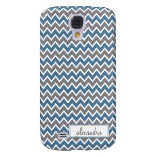 Chevron Pern (bleu) Coque Galaxy S4