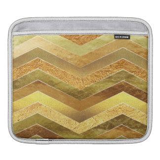Chevrons à la mode de feuille d'or de Faux Housse Pour iPad