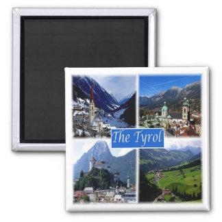 CHEZ * l'Autriche - le Tyrol Magnet Carré