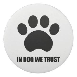 Chez le chien nous faisons confiance à la gomme