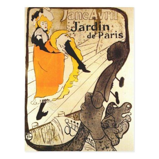 Chez le Jardin De Paris Carte Postale