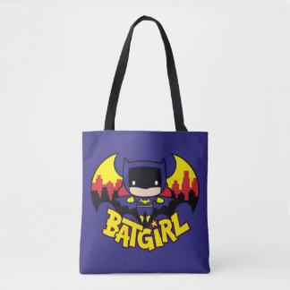 Chibi Batgirl avec l'horizon et le logo de Gotham Sac