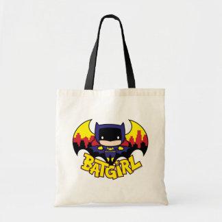 Chibi Batgirl avec l'horizon et le logo de Gotham Sac En Toile Budget