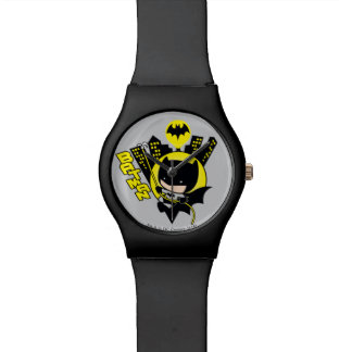 Chibi Batman mesurant la ville Montres Cadran