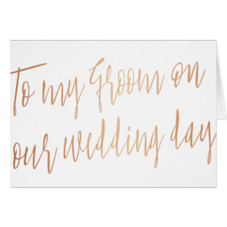 """Chic moderne """"à mon marié sur notre mariage """" carte de vœux"""