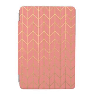 Chic moderne d'arrière - plan rose de corail de protection iPad mini