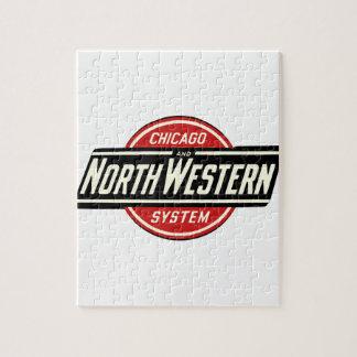 Chicago et logo du nord-ouest 1 de chemin de fer puzzle