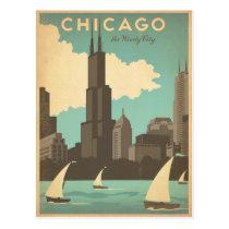 Chicago, IL - ville venteuse Cartes Postales