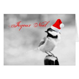 Chickadee de Joyeux Noel Père Noël Carte
