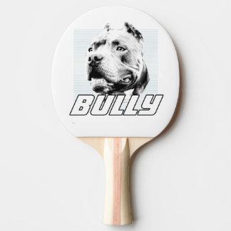 Chien américain de despote raquette de ping pong