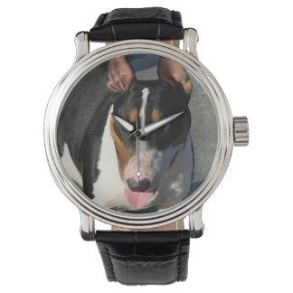 Chien anglais de bull-terrier montres bracelet