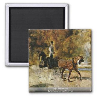 Chien-Car (la yole) par Toulouse-Lautrec Henri De Magnets Pour Réfrigérateur