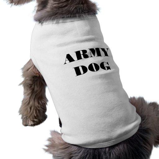 Chien d'armée d'habillement d'animal familier tee-shirts pour chien