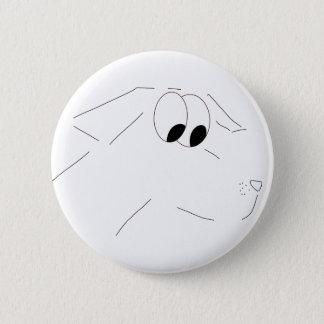 Chien de bande dessinée badge rond 5 cm