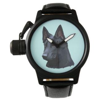 Chien de berger allemand noir montres