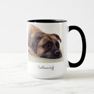 Chien de Bullmastiff peint dans la couleur pour Mug